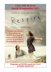 Affiche Respire ciné-club